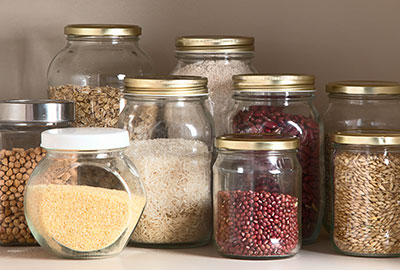 Earlee Products Pantry Jars filled with Spices
